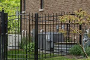 Aluminum fence installed mount prospect