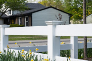 White fence installed in Palatine